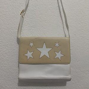 Escada Bags - ESCADA Soft Leather Star White & Cream Bag Italy